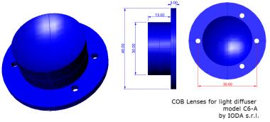 C6 lens light diffuser by IODA s.r.l.