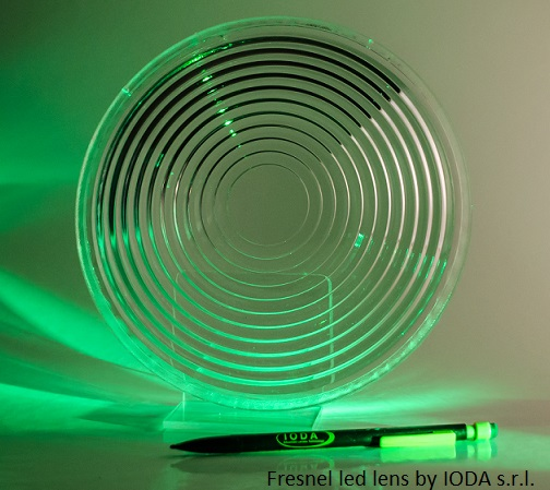 Fresnel led lens by IODA s.r.l.