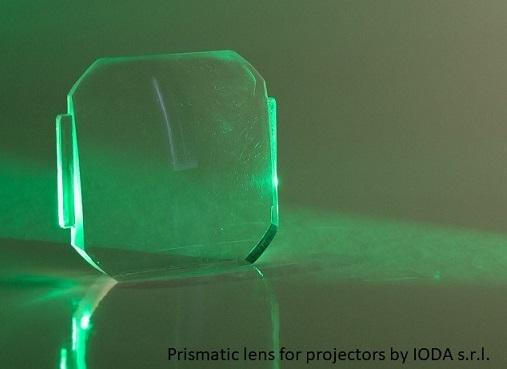 Prismatic lens fo projector